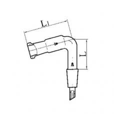 изгиб с керном и муфтой И 75 КМ-29/32-29/32 термостойкое стекло